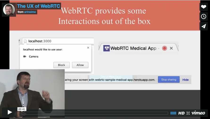 Arin Sime speaks about the UX of WebRTC at Kranky Geek San Francisco in 2015