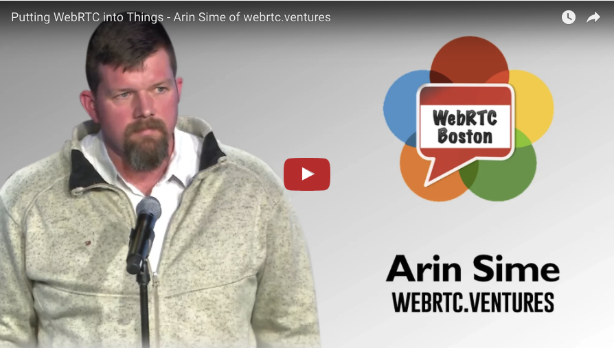 Arin Sime speaks about WebRTC and the Internet of Things at WebRTC Boston