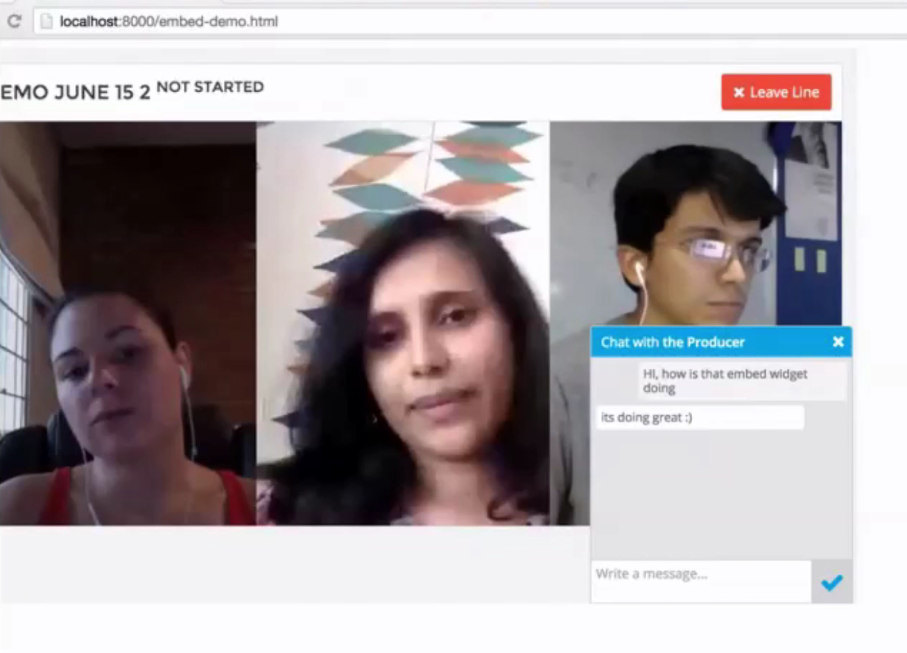ChatShow Live Streaming event based on WebRTC