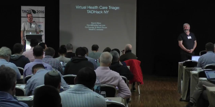 David Alfaro speaks at the 2016 TADSummit in Portugal on Multichannel Chatbots