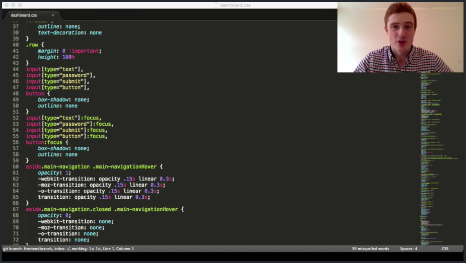 A LiveCoding.tv session with video enabled
