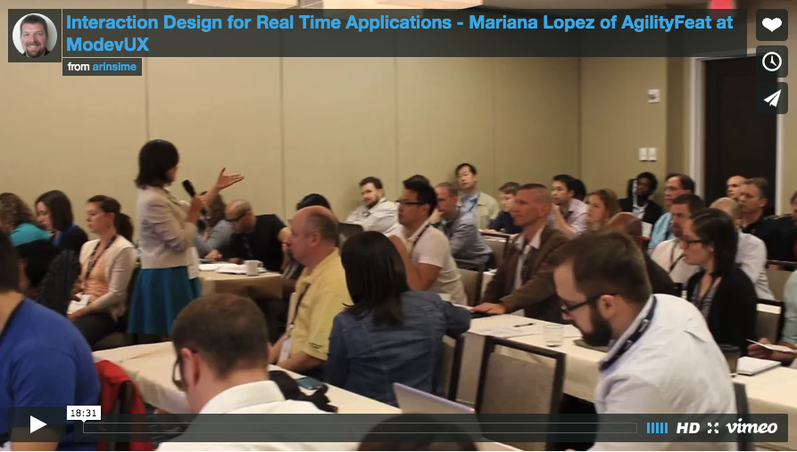 Mariana Lopez discusses the UX of WebRTC applications at Modev UX in Washington DC in 2014