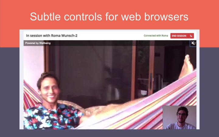 WebRTC video audio controls in the browser