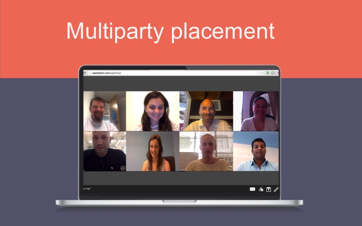 Multiparty video conference using WebRTC with TokBox's OpenTok tool