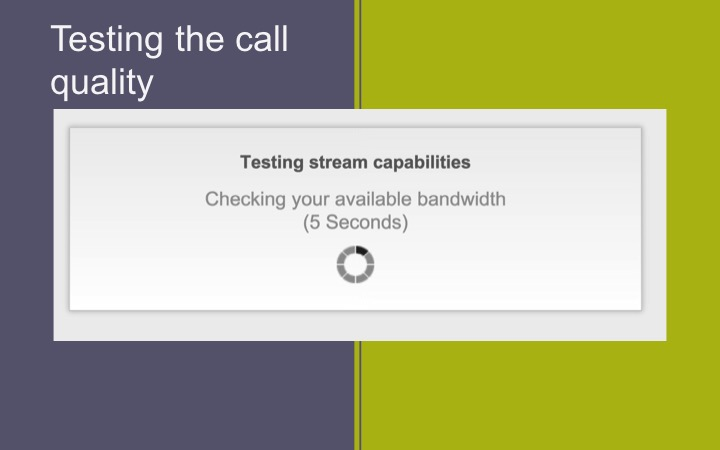 Using the OpenTok pre-call API to check call quality