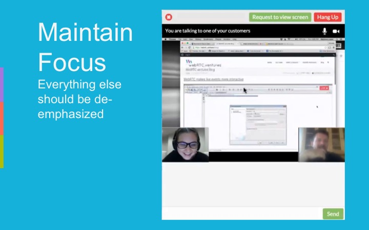 Screen sharing example in WebRTC