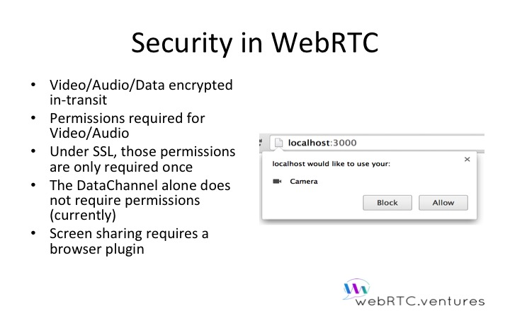 Security in WebRTC