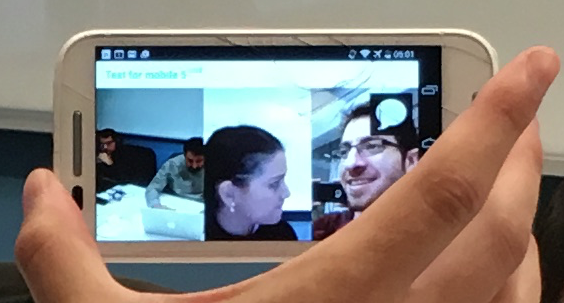 Testing a WebRTC video chat on a mobile phone