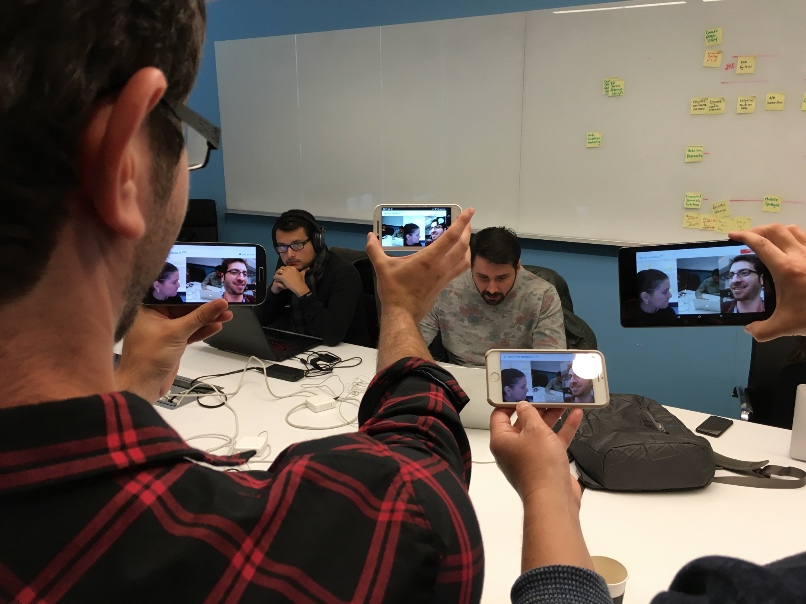 Testing a WebRTC video chat on mobile devices