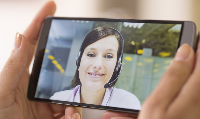 A senior technician could join a video chat remotely using WebRTC