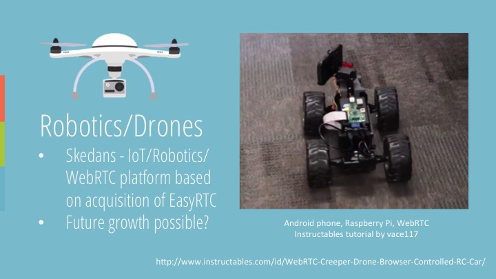 WebRTC for Drones and Robots