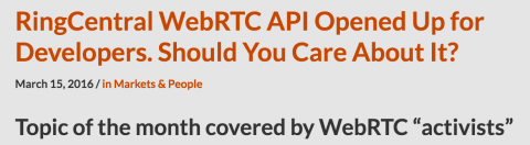 "Arin Sime featured in ""WebRTC Topic of the Month"""