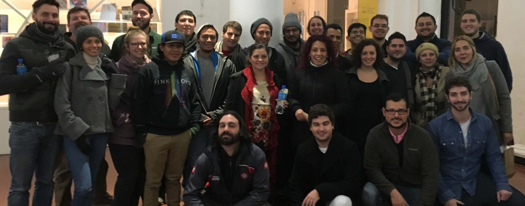Part of the WebRTC.ventures team at a team-building event in Buenos Aires, Argentina