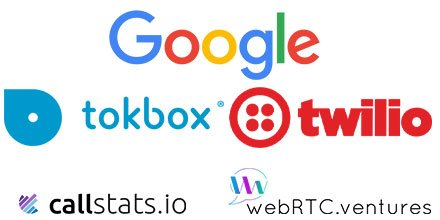 Google, Tokbox, Twilio, callstats.io and WebRTC.ventures sponsored the 2016 Kranky Geek event in Brazil