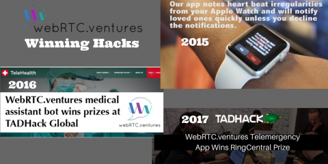 WebRTC.ventures Winning Telecom Application TADHacks – From an Apple Watch App to a Virtual Triage…