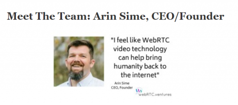 Meet the Team: Arin Sime, CEO & Founder of WebRTC.ventures
