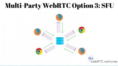 Multi-Party WebRTC Option 3: SFU