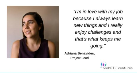 Adriana Benavides, Project Lead