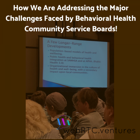 How We Are Addressing the Major Challenges Faced by Behavioral Health Community Service Boards!
