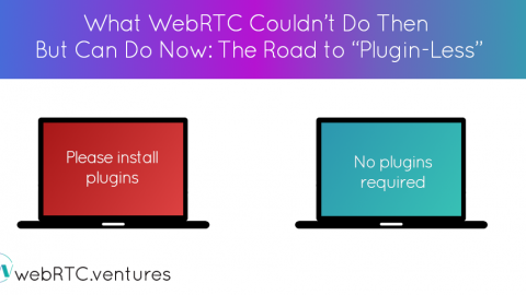"What WebRTC Couldn't Do Then But Can Do Now: The Road to ""Plugin-Less"""