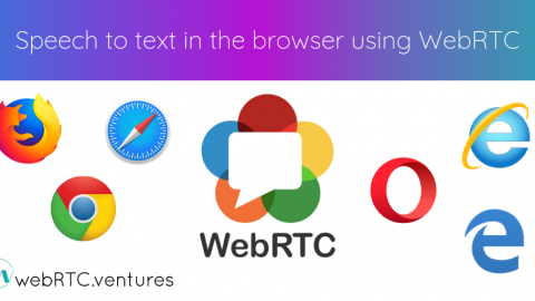Speech to text in the browser using WebRTC