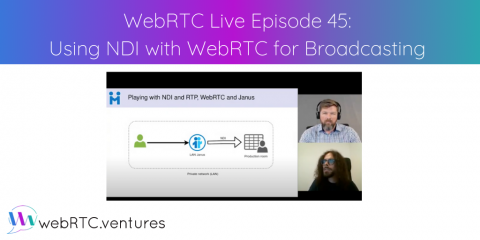 "Watch WebRTC Live #45: ""Using NDI with WebRTC for Broadcasting"""