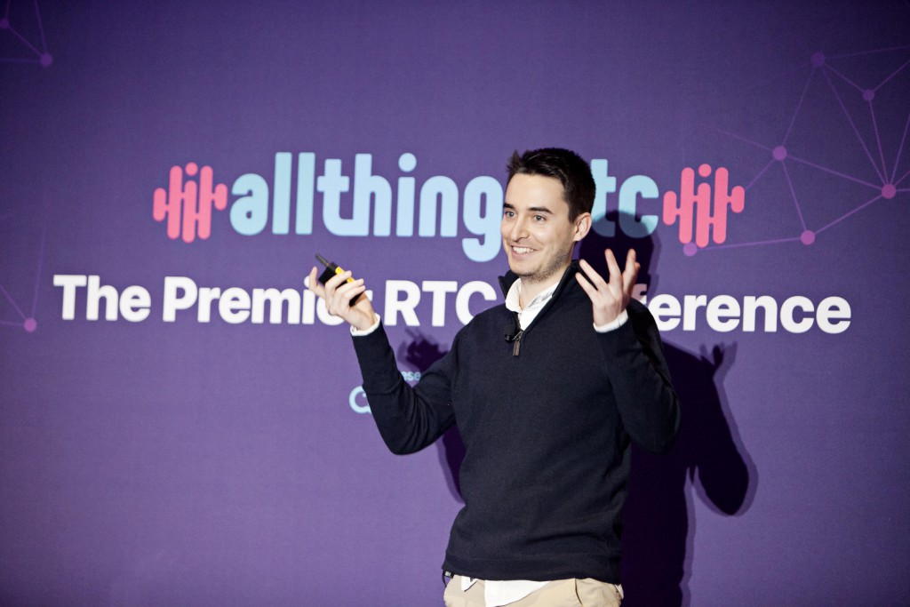 "Alberto Gonzalez Trastoy, Senior Software Engineer, WebRTC Ventures, presents ""Latest WebRTC Development Trends and Implementations"" at AllThingsRTC, the premier real-time communication event hosted by Agora, San Francisco, CA, June 13, 2019."