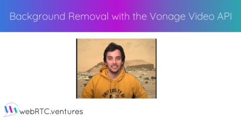 Background Removal with the Vonage Video API